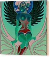 Angelique Wood Print by Cristina McAllister