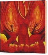 Angels Of Fire Wood Print