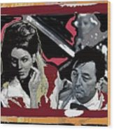 Angie Dickinson Robert Mitchum Pose Collage Young Billy Young Old Tucson Arizona 1968-2013 Wood Print
