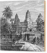 Angkor Wat, Cambodia, 1868 Wood Print