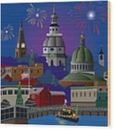 Annapolis Holiday Wood Print
