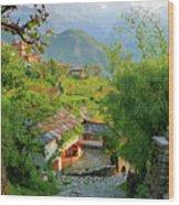 Annapurna Village Wood Print