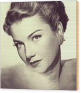 Anne Baxter, Vintage Actress Wood Print