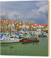 Anstruther Harbor Wood Print