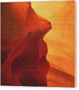 Antelope Canyon - Stone Face Wood Print