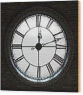 Antique Backlit Clock Wood Print