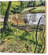 Antique Farm Equipment 1 Wood Print