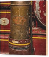 Antique Fire Extinguisher Wood Print
