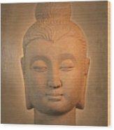 antique oil effect Buddha Gandhara. Wood Print