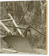 Antique One Share Plow Wood Print