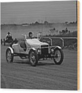 Antique Races Black And White Wood Print
