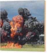 Boeing Apache Longbow  Helicopter Exercise Wood Print