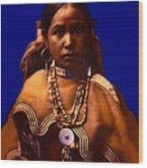 Apache Maiden Wood Print