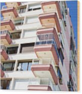 Apartment Building Wood Print