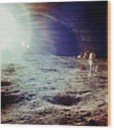 Apollo 12 Astronaut Wood Print