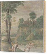 Apollo Pursuing Daphne Wood Print