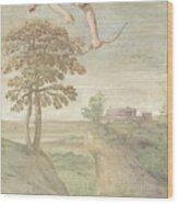 Apollo Slaying Coronis Wood Print