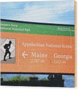 Appalachian National Scenic Trail Wood Print