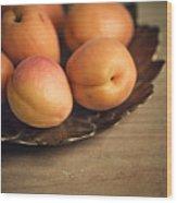 Apricots Wood Print