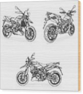 Aprilia Smv 900 Dorsoduro Drawing Wood Print