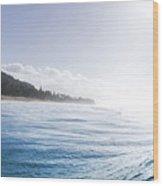 Aqua Ramp - Triptych Part 2 Of 3. Wood Print