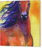 Arabian Horse 1 Painting Wood Print