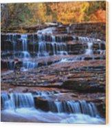 Archangel Falls In Zion Wood Print