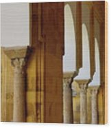 Arches Of The Patio De Los Naranjos In The Cathedral Of Cordoba Wood Print