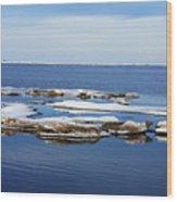 Arctic Ice Wood Print
