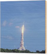 Ares1x Test Rocket Launch Wood Print