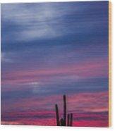 Arizona Desert Sunset Wood Print