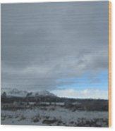 Arizona Winter Landscape Wood Print