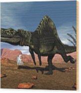 Arizonasaurus Dinosaur - 3d Render Wood Print