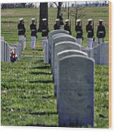 Arlington Cemetery Washington Dc Usa Wood Print