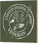 Army Veteran Wood Print