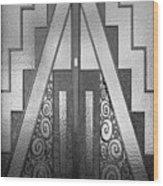 Art Deco Door Wood Print