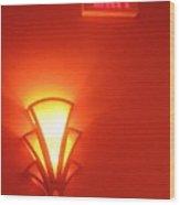 Art Deco Light Exit Sign Fox Tucson Theater Tucson Arizona 2006 Wood Print
