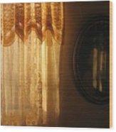 Art Homage Edward Hopper Winter Light  Window Curtain Reflection Bedroom Casa Grande Arizona 2005  Wood Print