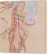 Art Nouveau Wood Print