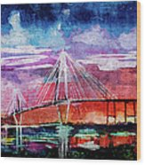 Arthur Ravenel Jr Bridge Charleston Wood Print