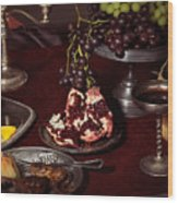 Artistic Food Still Life Wood Print