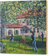 Artists On Location Wood Print
