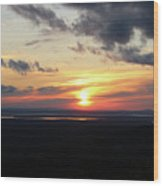 As The Sun Goes Down Wood Print