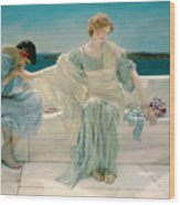 Ask Me No More Wood Print by Sir Lawrence Alma-Tadema