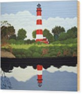 Assateague Island Lighthouse Wood Print