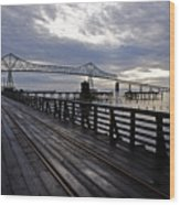 Astoria-megler Bridge 4 Wood Print