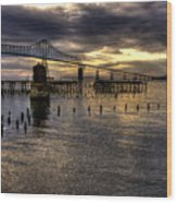 Astoria-megler Bridge 5 Wood Print