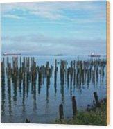 Astoria Ships II Wood Print