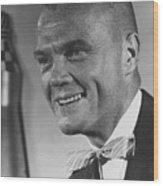 Astronaut John Glenn Wood Print