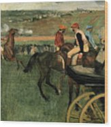 At The Races Wood Print